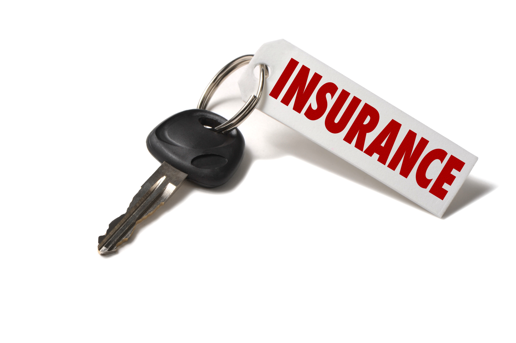 image of car key with insurance tag