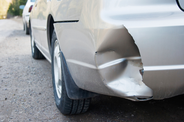 image of a car fender after an accident